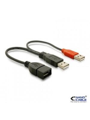 CABLE USB 2.0+ALIMENTACION