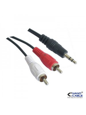 CABLE AUDIO 0,3 MTS JACK-RCA