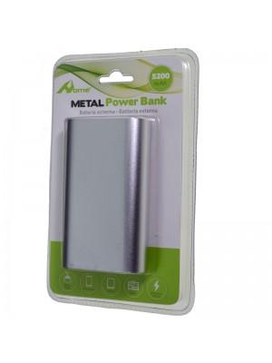 POWER BANK 5200mAh METAL PLATA