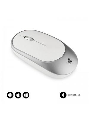 Ratón Bluetooth Subblim Smart- Hasta 1600 DPI- Blanco y Plata