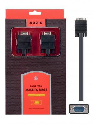 CABLE VGA 1,5 MTS M-M AU210