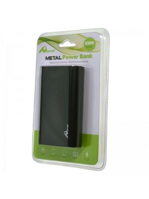 POWER BANK 5200mAh METAL NEGRO