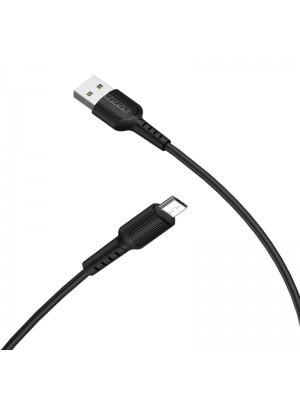 CABLE USB MICRO USB BX16 1MT 2A NEGRO