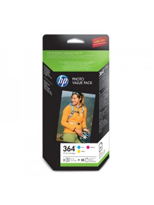 HP 364 PACK 3 COLOR + PAPEL
