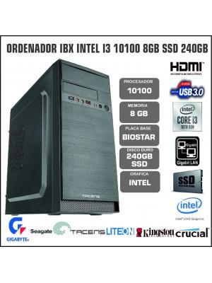 ORDENADOR IBX INTEL I3 10100 8GB SSD 240GB