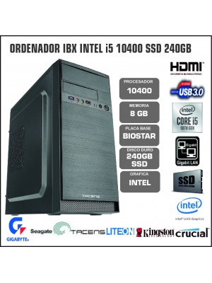 ORDENADOR IBX INTEL I5 10400 8GB SSD 240GB