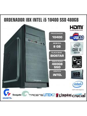 ORDENADOR IBX INTEL I5 10400 8GB SSD 480GB