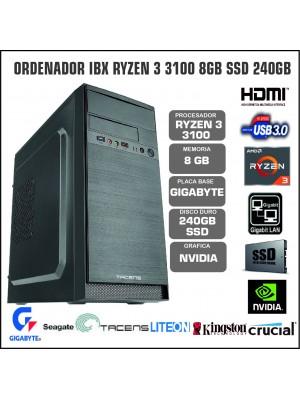 ORDENADOR IBX RYZEN 3 3100 8GB SSD 240GB