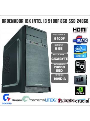 ORDENADOR IBX INTEL I3 9100F 8GB SSD 240GB