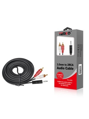 CABLE AUDIO 1,5 MTS JACK-RCA