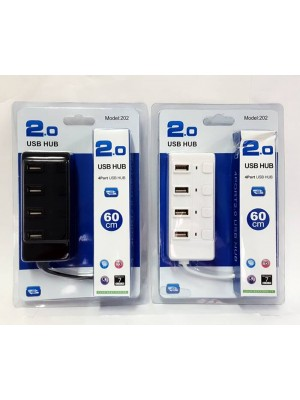 HUB 4 PUERTOS USB 2,0 204
