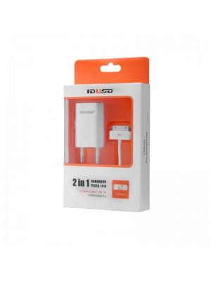 ADAPTADOR 220V + CABLE IPHONE 4 1A